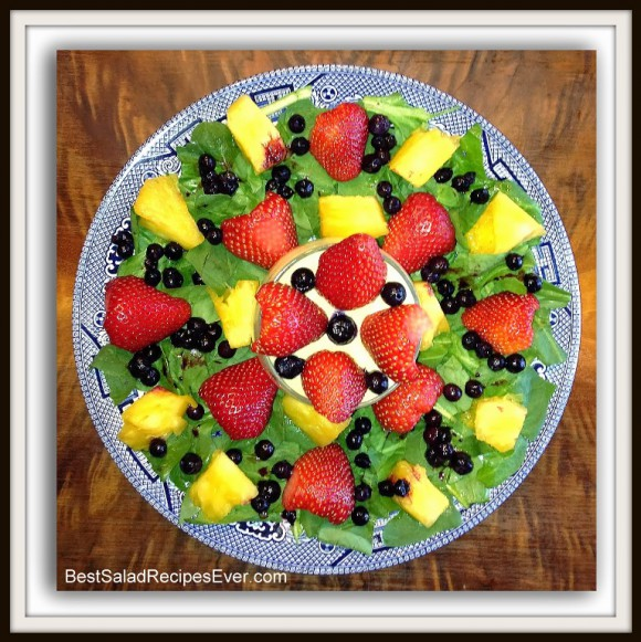 Strawberry Pineapple Blueberry Salad