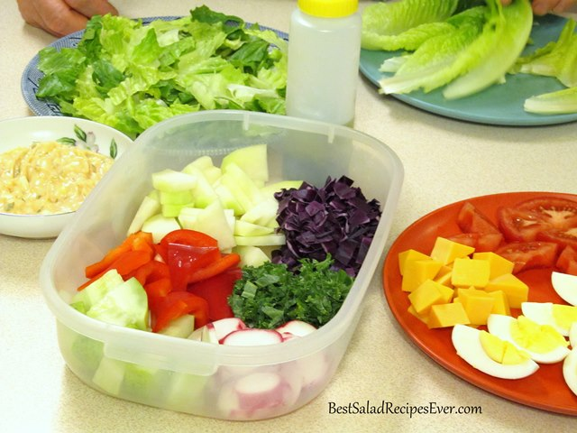 Ingredients for Halloween Salad